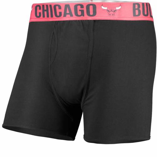 CONCEPTS SPORT シカゴ ブルズ 黒 ブラック 【 BLACK CONCEPTS SPORT CHICAGO BULLS BOXER BRIEF WITH SUBLIMATED WAISTBAND 】 インナー 下着 ナイトウエア メンズ