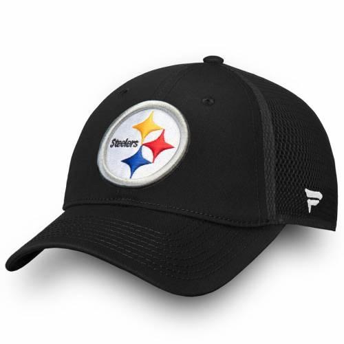 NFL PRO LINE BY FANATICS BRANDED ピッツバーグ スティーラーズ コア トラッカー スナップバック バッグ 黒 ブラック キャップ 帽子 メンズキャップ メンズ 【 Pittsburgh Steelers Elevated Core Trucker Adju