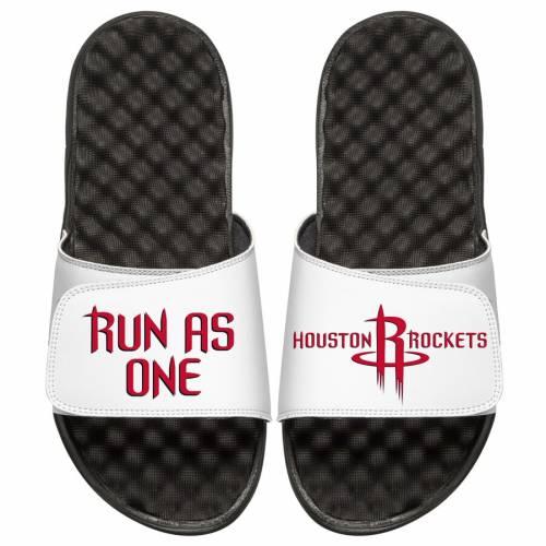ISLIDE ヒューストン ロケッツ 子供用 チーム サンダル キッズ ベビー マタニティ ジュニア 【 Houston Rockets Youth Team Playoff Slide Sandals - Black/white 】 Black/white