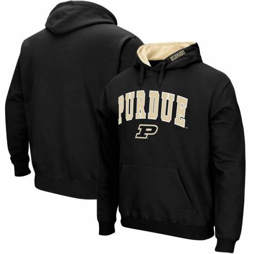 STADIUM ATHLETIC ロゴ 黒 ブラック メンズファッション トップス スウェット トレーナー メンズ 【 Purdue Boilermakers Big And Tall Arch And Logo Tackle Twill Hooded Sweatshirt - Black 】 Black