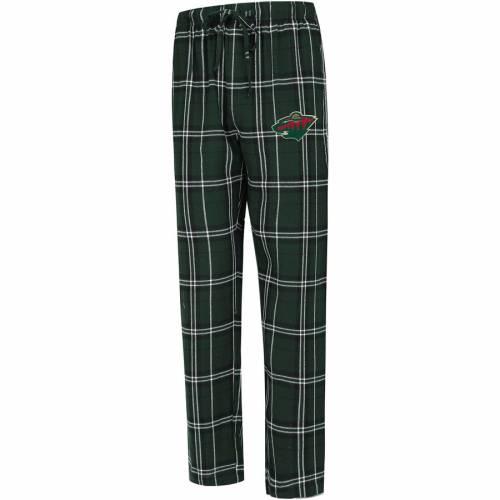 CONCEPTS SPORT ミネソタ ワイルド インナー 下着 ナイトウエア メンズ ナイト ルーム パジャマ 【 Minnesota Wild Big And Tall Hillstone Pants - Green/black 】 Green/black
