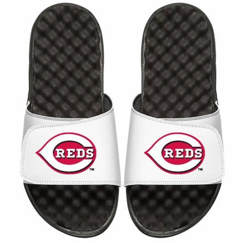 ISLIDE シンシナティ レッズ 子供用 ロゴ サンダル 白 ホワイト キッズ ベビー マタニティ ジュニア 【 Cincinnati Reds Youth Primary Logo Slide Sandals - White 】 White