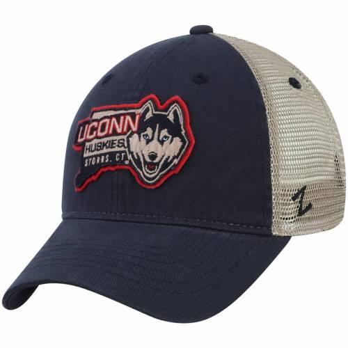ZEPHYR コネチカット バッグ キャップ 帽子 メンズキャップ メンズ 【 Uconn Huskies Heartland Adjustable Hat - Navy/natural 】 Navy/natural