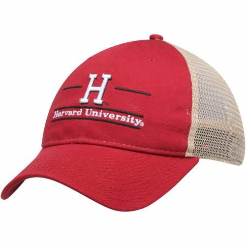 THE GAME ハーバード トラッカー バッグ キャップ 帽子 メンズキャップ メンズ 【 Harvard Crimson Split Bar Trucker Adjustable Hat - Crimson 】 Crimson