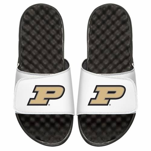 ISLIDE 子供用 ロゴ サンダル キッズ ベビー マタニティ ジュニア 【 Purdue Boilermakers Youth Primary Logo Slide Sandals 】 White