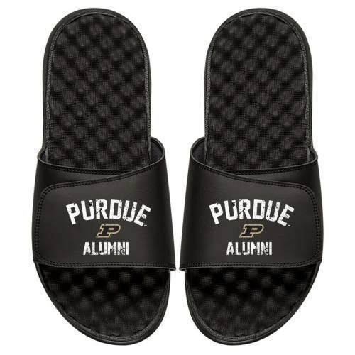 ISLIDE 子供用 カレッジ サンダル 黒 ブラック キッズ ベビー マタニティ ジュニア 【 Purdue Boilermakers Youth College Alumni Slide Sandals - Black 】 Black