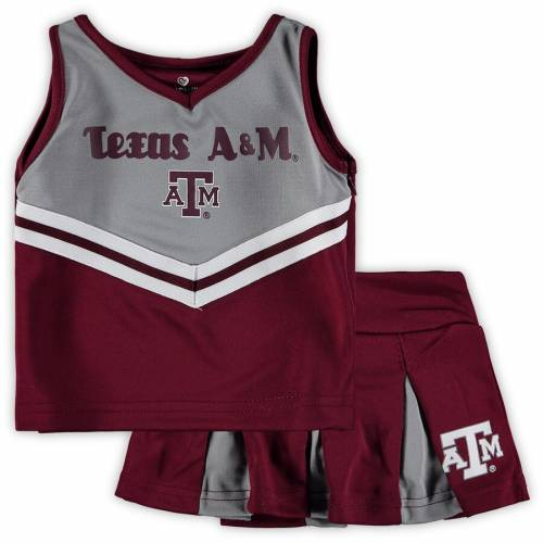 COLOSSEUM テキサス ベビー 赤ちゃん用 赤ちゃん 幼児 キッズ マタニティ ジュニア 【 Texas Aandm Aggies Girls Toddler Pom Pom Cheer Set - Maroon/gray 】 Maroon/gray