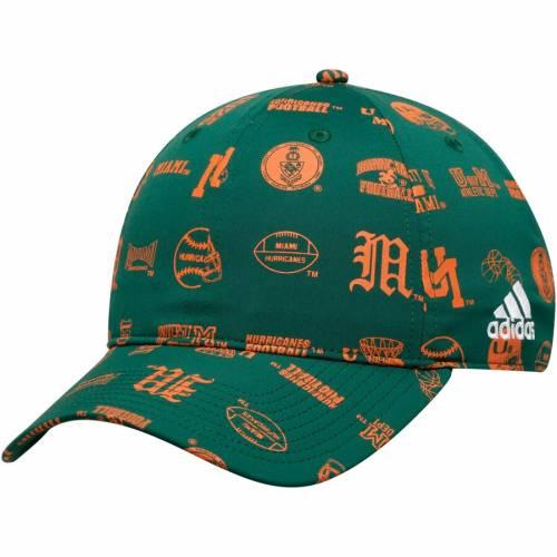 アディダス ADIDAS マイアミ スペシャル 緑 グリーン バッグ キャップ 帽子 メンズキャップ メンズ 【 Miami Hurricanes Thrift Store Special Adjustable Hat - Green 】 Green