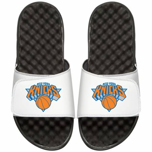 ISLIDE ニックス 子供用 サンダル キッズ ベビー マタニティ ジュニア 【 [customized Item] New York Knicks Youth Personalized Primary Slide Sandals - White/black 】 White/black