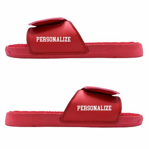 ISLIDE エンジェルス 子供用 ロゴ サンダル 赤 レッド [CUSTOMIZED ITEM] 【 ANGELS SLIDE RED ISLIDE LOS ANGELES YOUTH PERSONALIZED PRIMARY LOGO SANDALS 】 キッズ ベビー マタニティ