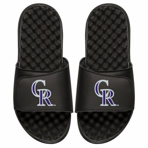 ISLIDE コロラド ロッキーズ 子供用 ロゴ サンダル 黒 ブラック [CUSTOMIZED ITEM] 【 SLIDE BLACK ISLIDE COLORADO ROCKIES YOUTH PERSONALIZED PRIMARY LOGO SANDALS 】 キッズ ベビー マタニティ