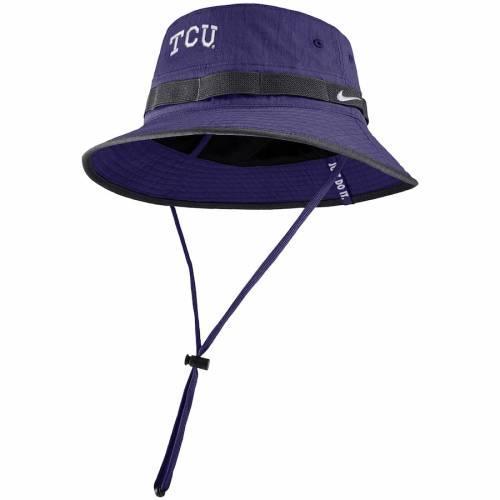 ナイキ NIKE サイドライン ロゴ パフォーマンス 紫 パープル バッグ キャップ 帽子 メンズキャップ メンズ 【 Tcu Horned Frogs Sideline Primary Logo Performance Bucket Hat - Purple 】 Purple