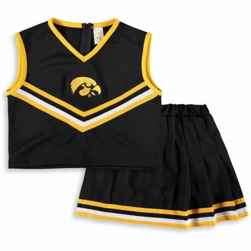 LITTLE KING 子供用 黒 ブラック キッズ ベビー マタニティ ジュニア 【 Iowa Hawkeyes Girls Youth Two-piece Cheer Set - Black 】 Black