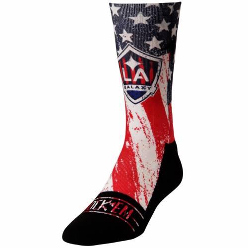 ROCK EM SOCKS クラブ カントリー ソックス 靴下 インナー 下着 ナイトウエア メンズ 下 レッグ 【 La Galaxy For Club And Country Shin Socks - Blue/red 】 Blue/red
