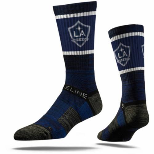 STRIDELINE プレミアム ソックス 靴下 黒 ブラック インナー 下着 ナイトウエア メンズ 下 レッグ 【 La Galaxy Premium Crew Socks - Black 】 Navy