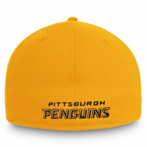 FANATICS BRANDED ピッツバーグ コア ロゴ バッグ キャップ 帽子 メンズキャップ メンズ 【 Pittsburgh Penguins Core Alternate Logo Fitted Hat - Gold 】 Gold