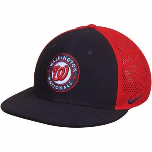 ナイキ NIKE ワシントン ナショナルズ スウッシュ スウォッシュ パフォーマンス バッグ キャップ 帽子 メンズキャップ メンズ 【 Washington Nationals True Vapor Swoosh Performance Flex Hat - Navy/red 】