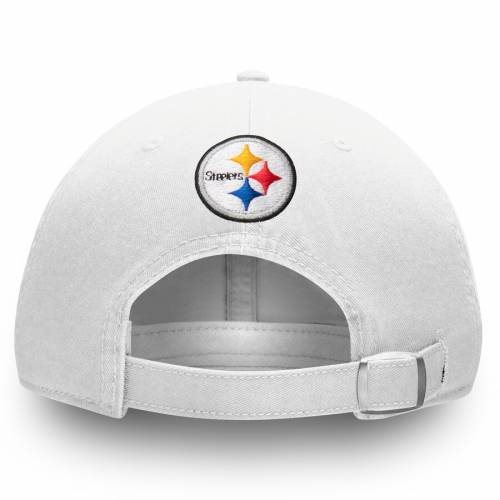 NFL PRO LINE BY FANATICS BRANDED ピッツバーグ スティーラーズ 銀色 スチール 白 ホワイト バッグ キャップ 帽子 メンズキャップ メンズ 【 Pittsburgh Steelers Steel Curtain Nickname Bar Adjustable Hat - White