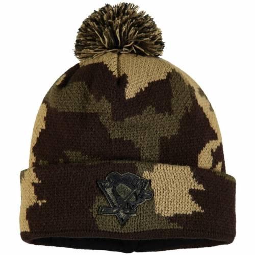 FANATICS BRANDED ピッツバーグ ニット バッグ キャップ 帽子 メンズキャップ メンズ 【 Pittsburgh Penguins Rank Knit Hat - Camo 】 Camo