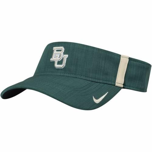 ナイキ NIKE ベイラー ベアーズ サイドライン パフォーマンス 緑 グリーン バッグ キャップ 帽子 メンズキャップ メンズ 【 Baylor Bears 2017 Aerobill Sideline Performance Visor - Green 】 Green