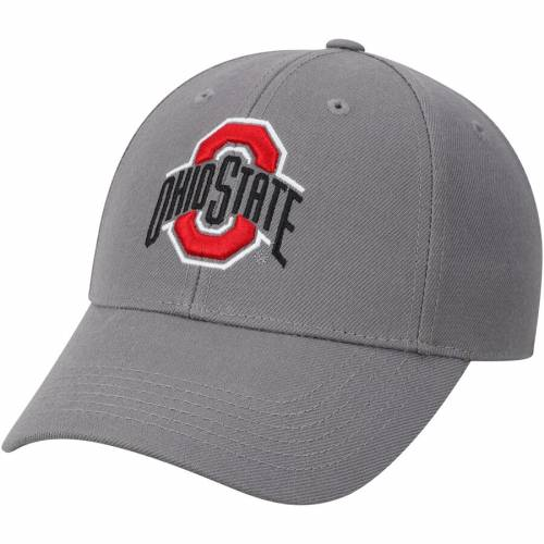 TOP OF THE WORLD オハイオ スケートボード バッグ キャップ 帽子 メンズキャップ メンズ 【 Ohio State Buckeyes Top Dynasty Fitted Hat - Scarlet 】 Gray