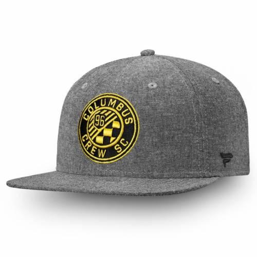 FANATICS BRANDED スナップバック バッグ 黒 ブラック キャップ 帽子 メンズキャップ メンズ 【 Columbus Crew Sc Chambray Emblem Adjustable Snapback Hat - Black 】 Black