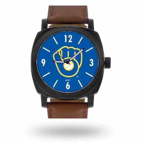 SPARO ミルウォーキー ブルワーズ ストラップ ウォッチ 時計 茶 ブラウン [CUSTOMIZED ITEM] 【 WATCH BROWN SPARO MILWAUKEE BREWERS PERSONALIZED STRAP 】 腕時計 メンズ腕時計
