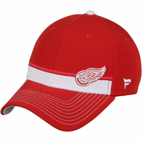 FANATICS BRANDED デトロイト 赤 レッド ストリーク スピード バッグ キャップ 帽子 メンズキャップ メンズ 【 Detroit Red Wings Iconic Streak Speed Stretch Fitted Hat - Red 】 Red
