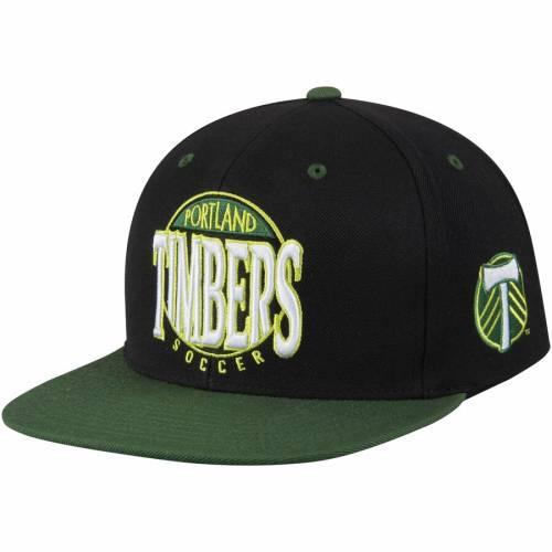 ミッチェル&ネス MITCHELL & NESS ポートランド スナップバック バッグ キャップ 帽子 メンズキャップ メンズ 【 Portland Timbers Mitchell And Ness On The Spot Snapback Adjustable Hat - Black/green 】 Black/gr