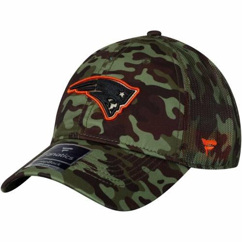 NFL PRO LINE BY FANATICS BRANDED ペイトリオッツ トラッカー バッグ キャップ 帽子 メンズキャップ メンズ 【 New England Patriots Recon Trucker Adjustable Hat - Camo 】 Camo