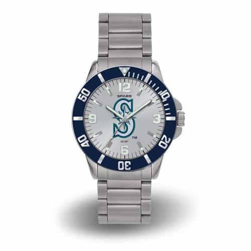 SPARO シアトル マリナーズ ブレスレット ウォッチ 時計 銀色 シルバー [CUSTOMIZED ITEM] 【 WATCH SILVER SPARO SEATTLE MARINERS PERSONALIZED KEY BRACELET QUARTZ 】 腕時計 メンズ腕時計