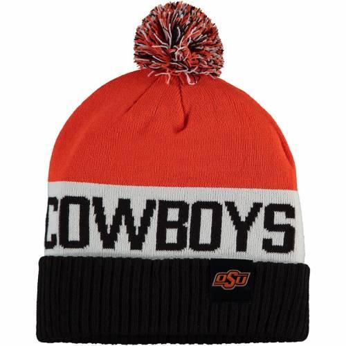 ナイキ NIKE スケートボード カウボーイズ チーム ニット 橙 オレンジ バッグ キャップ 帽子 メンズキャップ メンズ 【 Oklahoma State Cowboys Team Name Cuffed Knit Hat With Pom - Orange 】 Orange