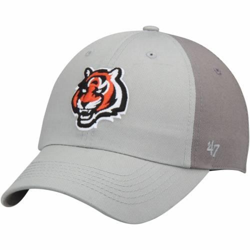 '47 シンシナティ ベンガルズ 灰色 グレー グレイ バッグ キャップ 帽子 メンズキャップ メンズ 【 Cincinnati Bengals Northside Clean Up Adjustable Hat - Gray/dark Gray 】 Gray/dark Gray