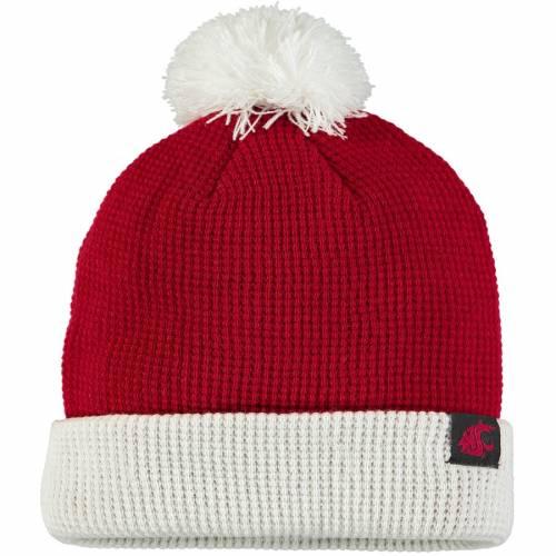 ナイキ NIKE ワシントン スケートボード ワッフル ニット バッグ キャップ 帽子 メンズキャップ メンズ 【 Washington State Cougars Waffle Cuffed Pom Knit Hat - Crimson 】 Crimson