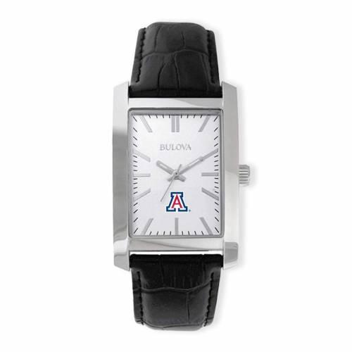 ブローバ BULOVA アリゾナ コレクション ストラップ ウォッチ 時計 銀色 シルバー 黒 ブラック 【 WATCH SILVER BLACK BULOVA ARIZONA WILDCATS CORPORATE COLLECTION STRAP 】 腕時計 メンズ腕時計