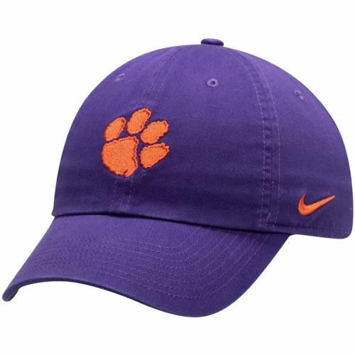 ナイキ NIKE タイガース ロゴ パフォーマンス 橙 オレンジ バッグ キャップ 帽子 メンズキャップ メンズ 【 Clemson Tigers Heritage 86 Logo Performance Adjustable Hat - Orange 】 Purple
