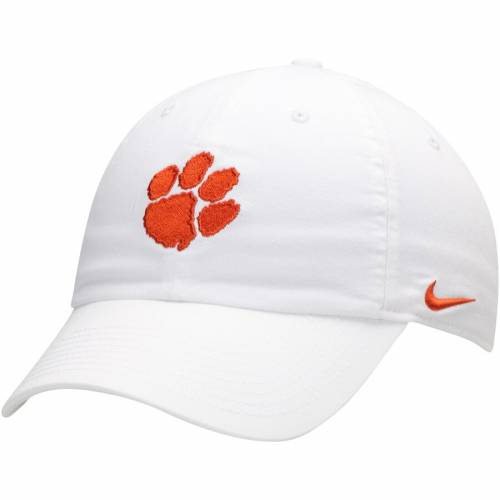 ナイキ NIKE タイガース ロゴ パフォーマンス 橙 オレンジ バッグ キャップ 帽子 メンズキャップ メンズ 【 Clemson Tigers Heritage 86 Logo Performance Adjustable Hat - Orange 】 White