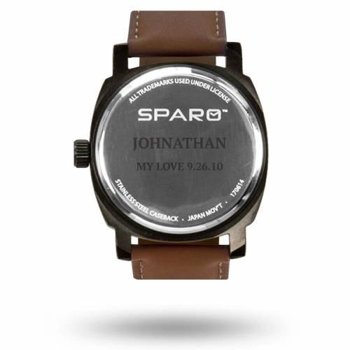 SPARO カンザス シティ チーフス ストラップ ウォッチ 時計 茶 ブラウン [CUSTOMIZED ITEM] 【 WATCH BROWN SPARO KANSAS CITY CHIEFS PERSONALIZED STRAP 】 腕時計 メンズ腕時計