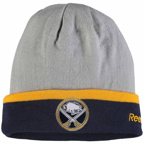 リーボック REEBOK バッファロー チーム ロゴ ニット 灰色 グレー グレイ バッグ キャップ 帽子 メンズキャップ メンズ 【 Buffalo Sabres Team Logo Cuffed Knit Hat - Gray 】 Gray