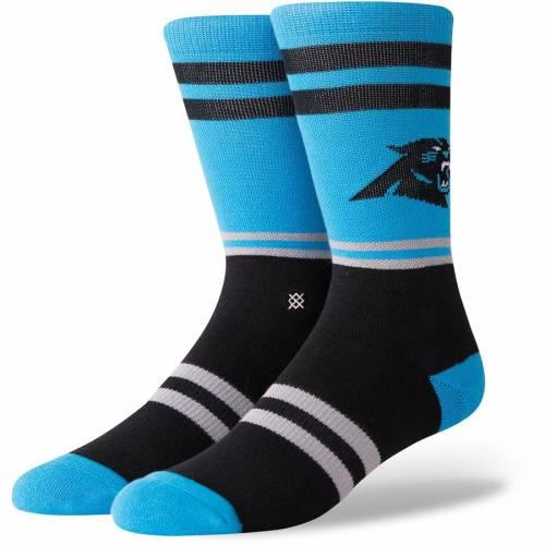 スタンス STANCE カロライナ パンサーズ ロゴ ソックス 靴下 インナー 下着 ナイトウエア メンズ 下 レッグ 【 Carolina Panthers Logo Crew Socks 】 Color