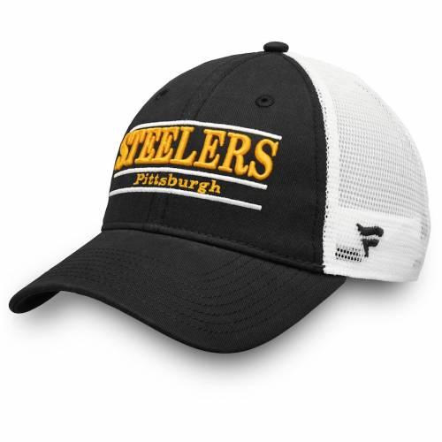 NFL PRO LINE BY FANATICS BRANDED ピッツバーグ スティーラーズ トラッカー バッグ キャップ 帽子 メンズキャップ メンズ 【 Pittsburgh Steelers Primary Bar Trucker Adjustable Hat - Black/white 】 Black/white