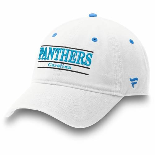 NFL PRO LINE BY FANATICS BRANDED カロライナ パンサーズ クラシック 白 ホワイト バッグ キャップ 帽子 メンズキャップ メンズ 【 Carolina Panthers Classic Bar Adjustable Hat - White 】 White