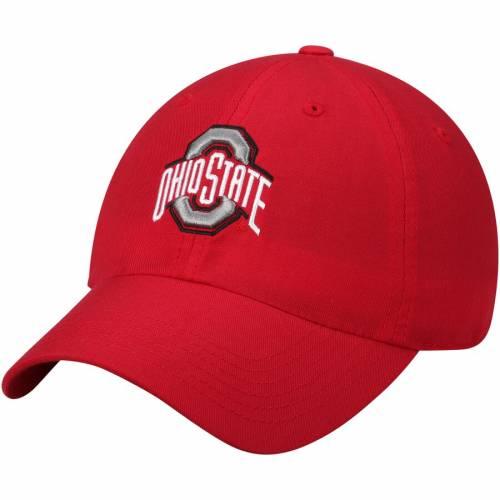 TOP OF THE WORLD オハイオ スケートボード 黒 ブラック バッグ キャップ 帽子 メンズキャップ メンズ 【 Ohio State Buckeyes Buckeye Staple Adjustable Hat - Black 】 Scarlet