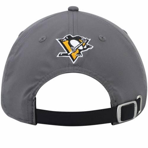アディダス ADIDAS ピッツバーグ バッグ キャップ 帽子 メンズキャップ メンズ 【 Pittsburgh Penguins Culture Goalie Front Slouch Adjustable Hat - Gray/black 】 Gray/black