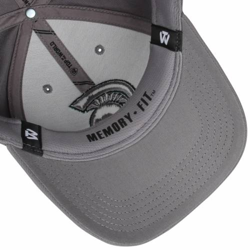 TOP OF THE WORLD ミシガン スケートボード 灰色 グレー グレイ バッグ キャップ 帽子 メンズキャップ メンズ 【 Michigan State Spartans Dynasty Fitted Hat - Gray 】 Gray