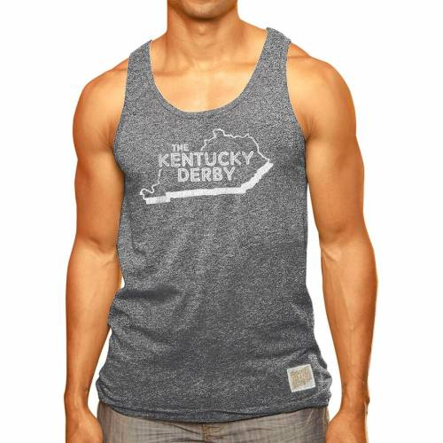 ORIGINAL RETRO BRAND ケンタッキー スケートボード タンクトップ 【 STATE KENTUCKY DERBY MOCK TWIST TANK TOP GREEN CHARCOAL 】 メンズファッション トップス 送料無料