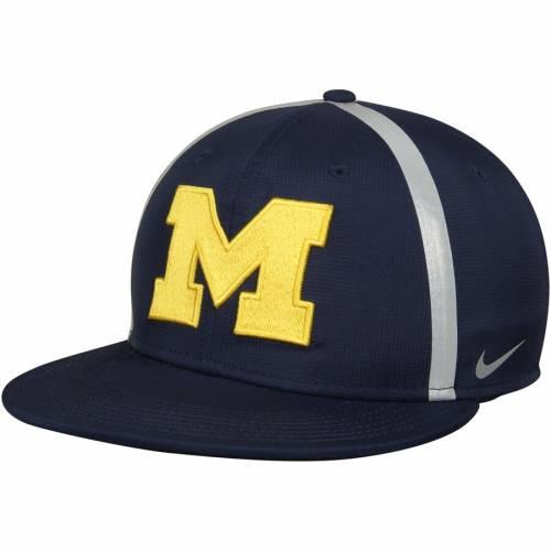 ナイキ NIKE ミシガン スナップバック バッグ 紺 ネイビー キャップ 帽子 メンズキャップ メンズ 【 Michigan Wolverines Championship Drive True Adjustable Snapback Hat - Navy 】 Navy