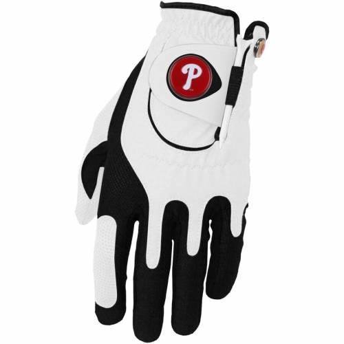 ZERO FRICTION BY TEAM GOLF フィラデルフィア フィリーズ ゴルフ グローブ グラブ 手袋 白 ホワイト スポーツ アウトドア メンズ 【 Philadelphia Phillies Left Hand Golf Glove And Ball Marker Set - White 】 White