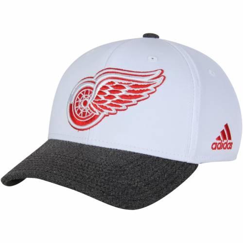アディダス ADIDAS デトロイト 赤 レッド パフォーマンス 灰色 グレー グレイ バッグ キャップ 帽子 メンズキャップ メンズ 【 Detroit Red Wings Performance Adjustable Hat - White/heathered Gray 】 White/he