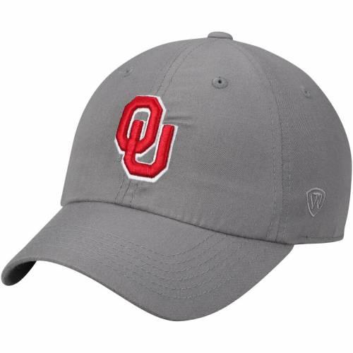 TOP OF THE WORLD ロゴ 黒 ブラック バッグ キャップ 帽子 メンズキャップ メンズ 【 Oklahoma Sooners Primary Logo Staple Adjustable Hat - Black 】 Gray